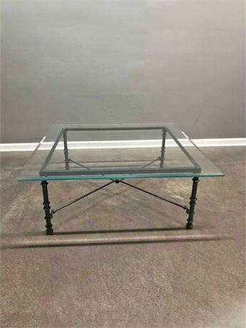 Beveled Glass Top Coffee Table