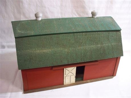 LARGE VINTAGE WOOD TOY BARN