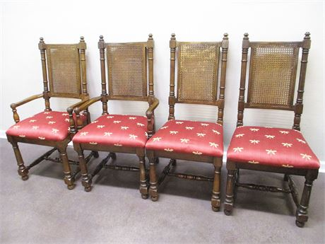 LOT OF 4 LOVELY DINING CHAIRS