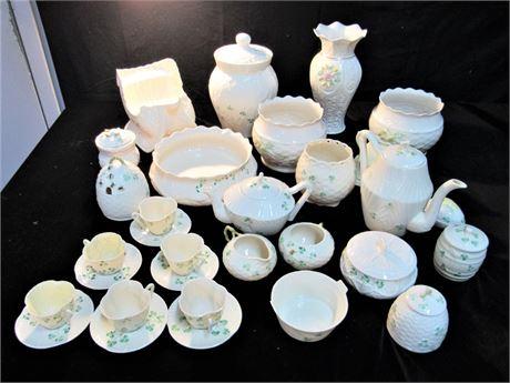 Huge Belleek Pottery Lot - 25 Pieces!