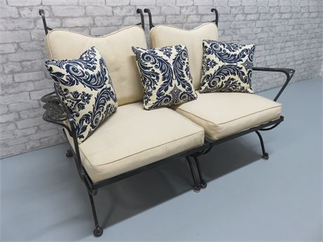 Wrought Iron Loveseat Bench