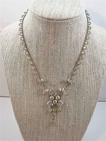 White Zircon Necklace