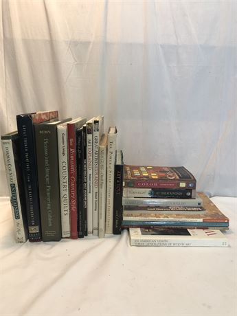 Art History, Art, and Quilting Books