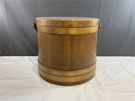 Antique Primitive Shaker Style Firkin Bucket