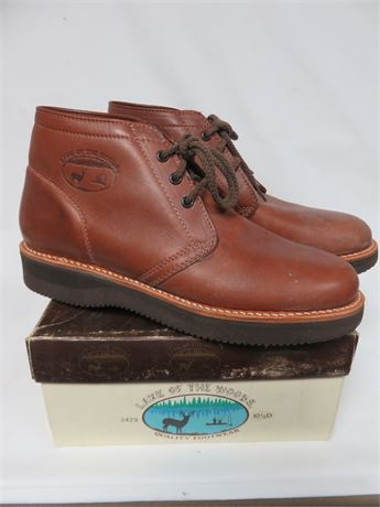 LAKE OF THE WOODS Men's Leather Work Boots - SIZE 9D