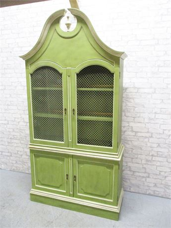 BEAUTIFUL HUTCH WITH CARVED TOP