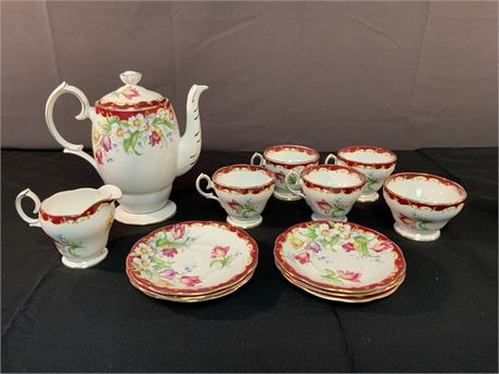 Vintage Fine Bone Bell China Tea Set