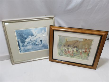 """KEITH ANDREW Limited Edition Lithograph """"Hidden Cottage"""""""