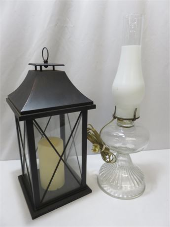 Vintage Oil Lamp - Hanging Candle Lantern