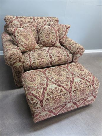 HARDEN FURNITURE Chair-And-A-Half with Ottoman