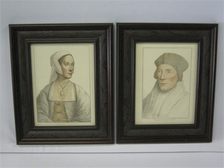 2 FRAMED PRINTS - IN HIS MAJESTY COLLECTION