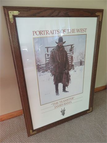 """JAMES BAMA """"The Teamster"""" Portrait of The West Print"""