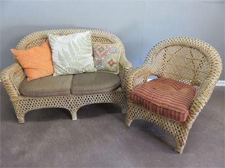 PIER 1 Wicker Loveseat & Chair Set