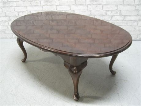 BASSETT COFFEE TABLE WITH CABRIOLE LEGS