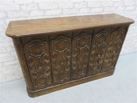 Vintage Tudor Style Buffet Cabinet - Farnam Manor Richfield, OH