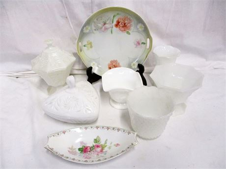 LOT OF VINTAGE GLASS AND CHINA FEATURING JSV GERMANY