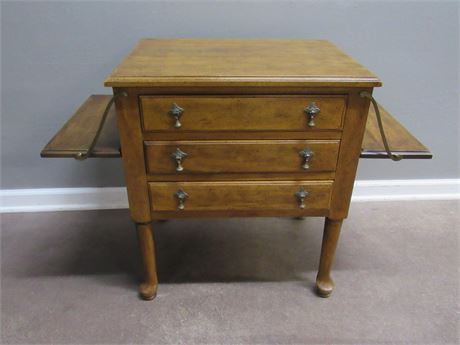 Vintage Davis Cabinet Company Signature Collection Drop-leaf Nightstand
