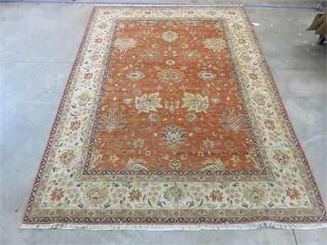 9 x 12 Genuine Hand-Knitted 100% Wool Oriental Rug
