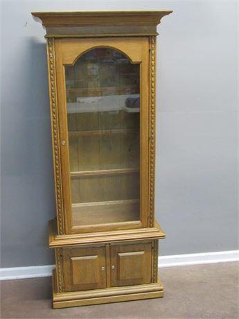 2 Piece Locking Oak Storage/Display Case