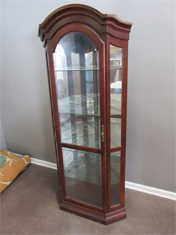 Philip Reinisch Co. Corner Cabinet/Hutch with Beveled Glass Door