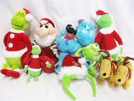 LOT OF PLUSH TOYS FEATURING DR. SEUSS AND PIXAR