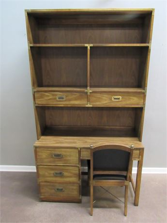 Bernhardt Desk with Hutch and Chair
