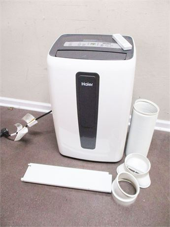 HAIER PORTABLE ELECTRONIC 12,000 BTU AIR CONDITIONER WITH REMOTE