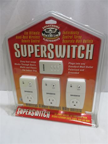 SUPERSWITCH Wireless Remote Control Wall Outlet Pack