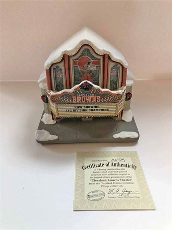 Limited Edition Cleveland Browns Theatre Sculpture