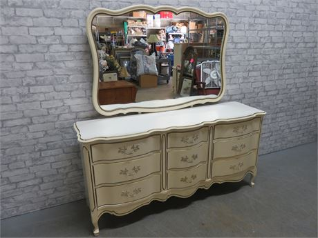 JOHNSON CARPER French Provincial Triple Dresser & Mirror