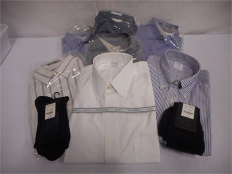 7 MENS DRESS SHIRTS - NEW