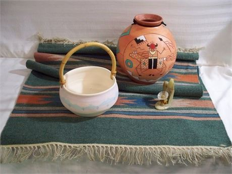 4 PIECE SOUTHWEST LOT - INCLUDING RED HORSE POTTERY