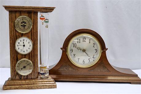 Seth Thomas Mantel Clock & Barometer/Clock/Hygrometer/Galileo Thermometer
