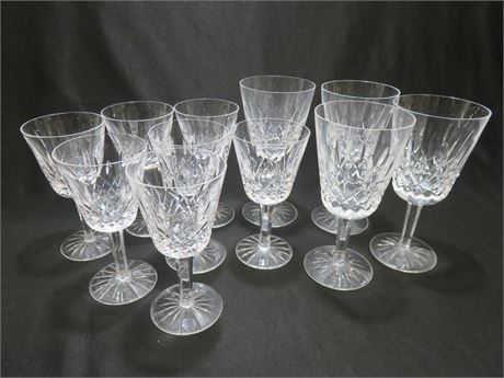 11-Piece WATERFORD Crystal Glass Set