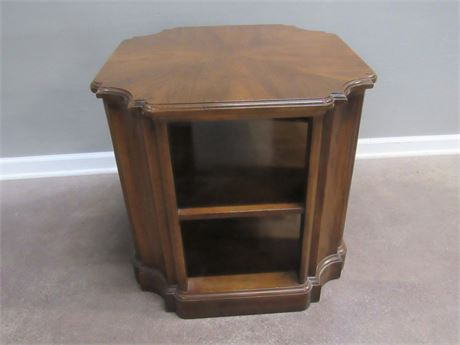 End/Side Table with Open Shelves