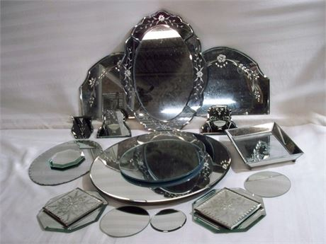 17 PIECE MIRROR LOT