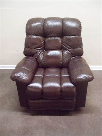 NICE BROWN LEATHER RECLINER