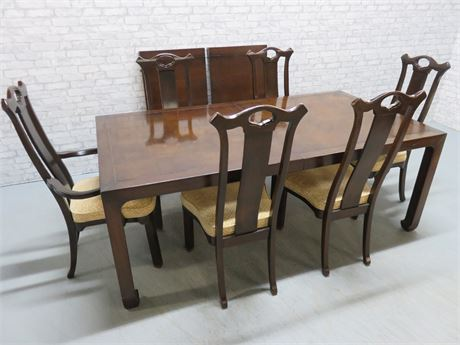 HICKORY MFG. CO. Asian Dining Table Set