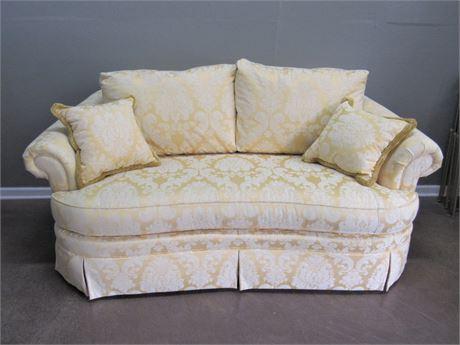 Ethan Allen Floral Damask Sofa