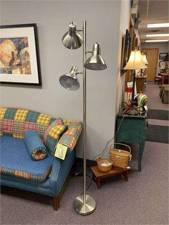 Brush Nickel Floor Lamp