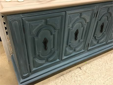Credenza  / Entertainment Center Custom Painted by Tracy