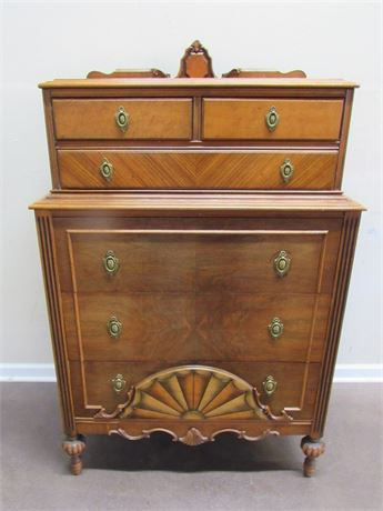 VINTAGE ART NOUVEAU BEDROOM CHEST OF DRAWERS
