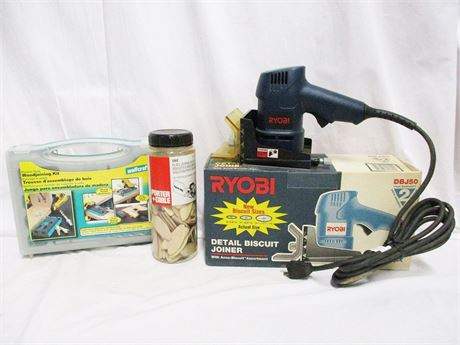 LOT OF WOODWORKING TOOLS FEATURING RYOBI
