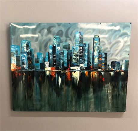 """City Over Color"" Tin Canvas"
