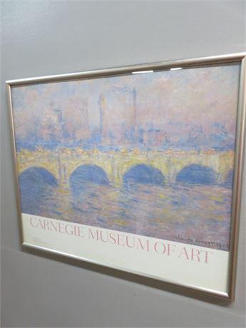 "CLAUDE MONET ""Waterloo Bridge"" Carnegie Museum of Art Promo Print"