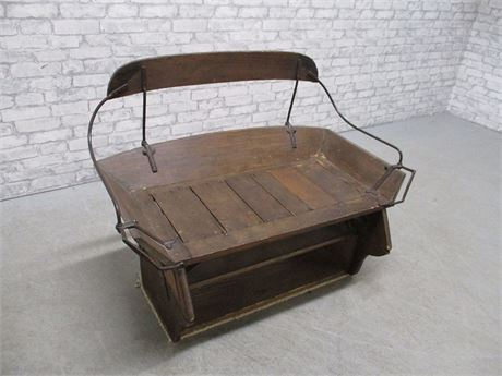 VINTAGE SLEIGH/BUGGY BENCH