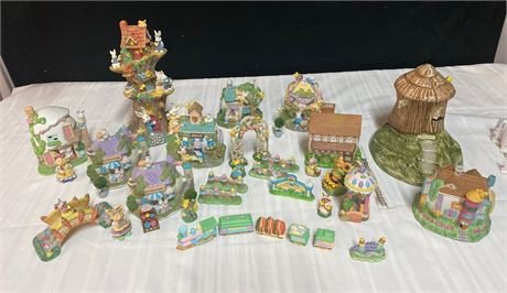 Easter Village Houses and Accessories