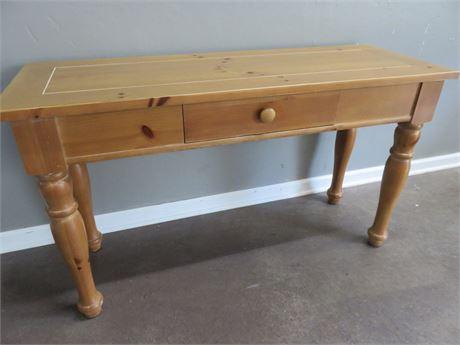 BROYHILL Knotty Pine Sofa Table
