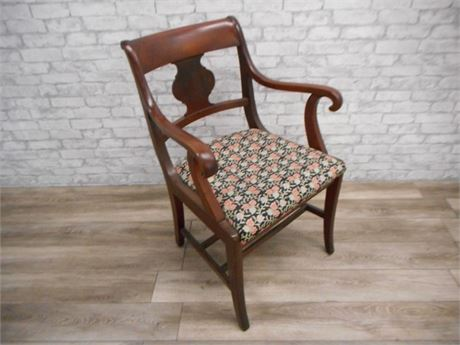 VINTAGE SPLAT-BACK ARM CHAIR