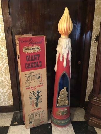 Mid Century Beco Original Illuminated Giant Candle